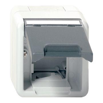Gira outlet-component kunststof datakap, grijs (spatwaterdicht)