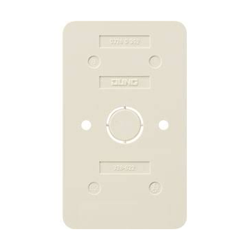 JUNG AP600 bod pl kunststof, wit, uitvoering 2-voudig
