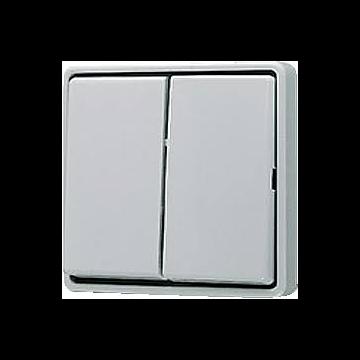 JUNG WG600 installatieschakelaar kunststof, grijs, schakelaar 2-polig