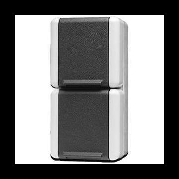 JUNG WG800 wandcontactdoos kunststof, grijs, uitvoering ra, 2 eenheden