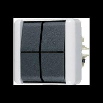 JUNG WG800 installatieschakelaar kunststof, grijs, schakelaar 2-polig