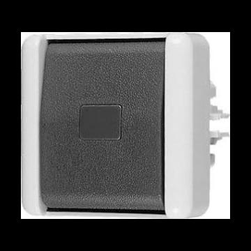 JUNG WG800 enkel drk cont kunststof, grijs, basis element met bovendeel, wip