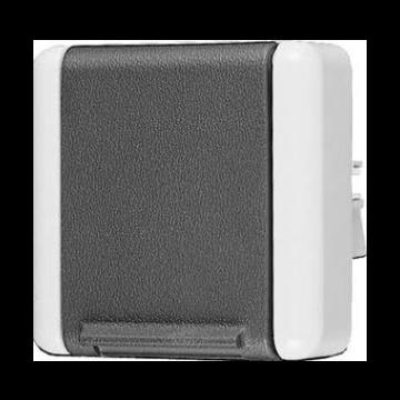 JUNG WG800 wandcontactdoos kunststof, grijs, uitvoering ra, 1 eenheid
