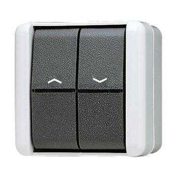 JUNG WG800 jaloezieschakelaar kunststof, grijs, basis element met complete