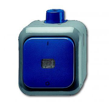 Busch-Jaeger Busch-duro 2000 WDI wipschakelaar 2-polig, blauw