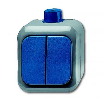 Busch-Jaeger Busch-duro 2000 WDI wipschakelaar serie, blauw
