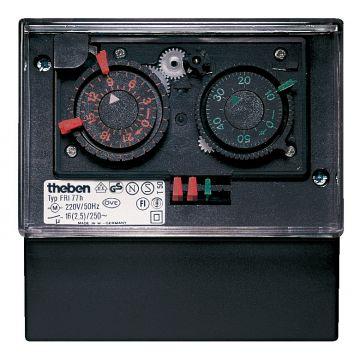 Theben analoge schakelaarklok voor paneelbouw FRI 77G, 105x105x61mm