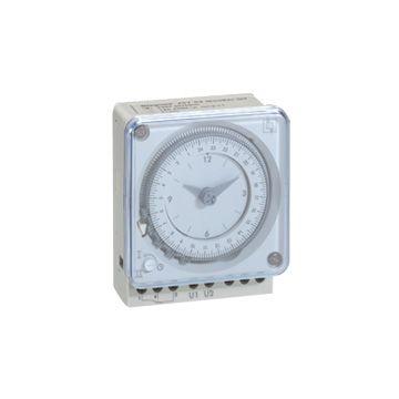 Legrand analoge schakelaarklok voor paneelbouw MaxiRex T, 72x110x44.5mm, frontinb