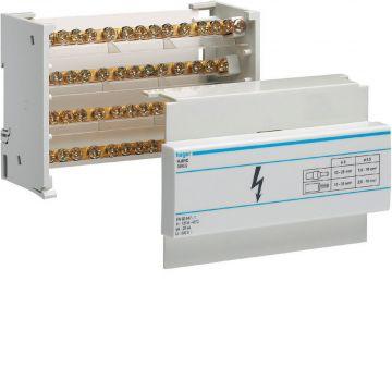 Hager aansluitingklem voor hoofdkabel kabel KJ, 86x130x44mm, 4 polen