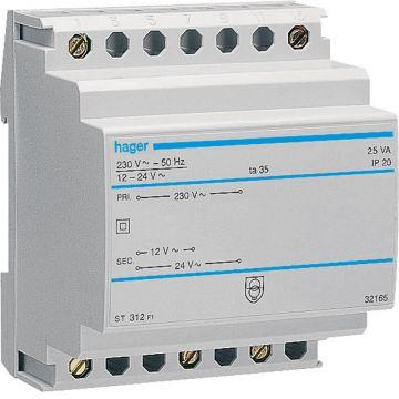 Hager veil trafo ST, 64x71x85mm, prim 230V, sec 12-24V