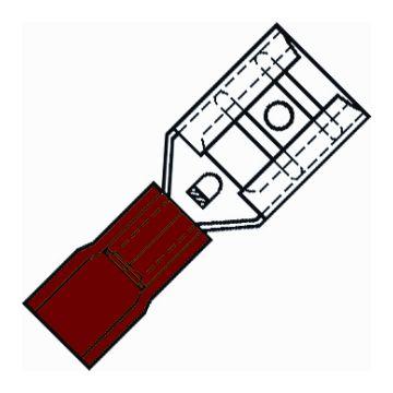 Klemko aderdoorverbinder rond/vlak huls SP, messing