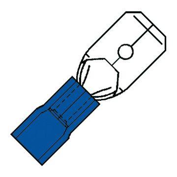 Klemko aderdoorverbinder rond/vlak stekker SP, messing