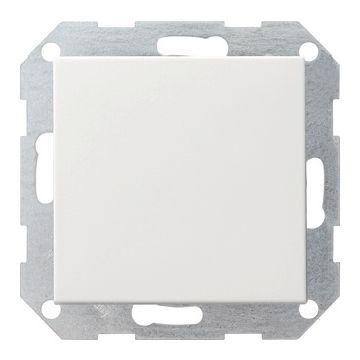 Gira System 55 1-voudig kunststof inbouw drukvlakschakelaar wissel schakelaar mat, wit