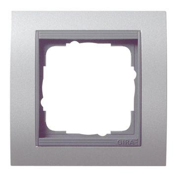 Gira Event enkelvoudig kunststof afdekraam, antraciet/aluminium