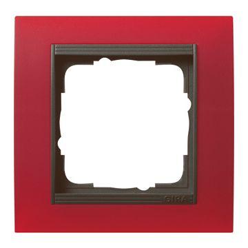 Gira Event enkelvoudig kunststof afdekraam, antraciet/rood