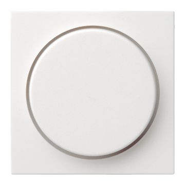 Gira S-Color kunststof inzetplaat met draaiknop voor Systeem 55 dimmer, mat zuiver, wit