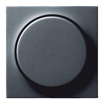 Gira S-Color kunststof inzetplaat met draaiknop voor Systeem 55 dimmer, antraciet