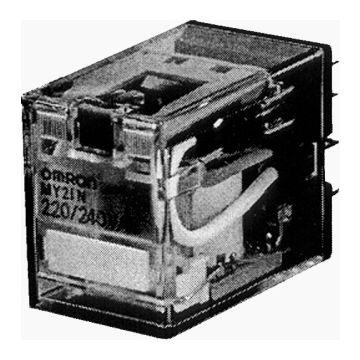Omron hulprelais MY 4, 36x21.5x28mm, stuursp AC, nom. Us bij AC 50Hz 12V