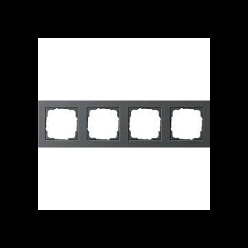 Gira E2 4-voudig kunststof afdekraam, antraciet