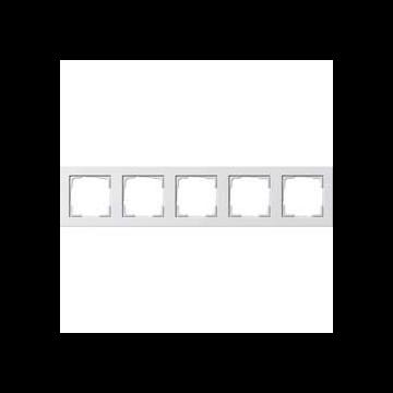 Gira E2 5-voudig kunststof afdekraam, wit