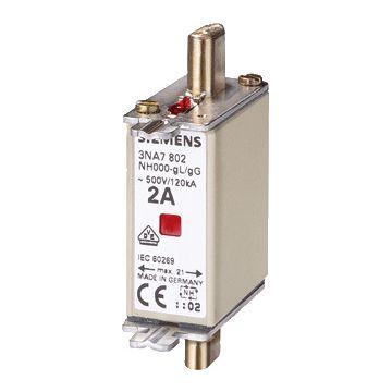 Siemens smeltp (mes) 3NA7, DIN-grootte NH000, nom. (meet)str 80A