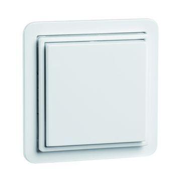 PEHA NOVA outlet-component kunststof, zuiver, wit, centraalplaat