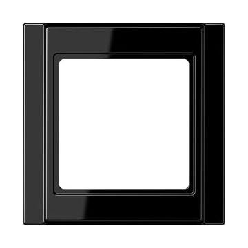 JUNG A500 afdekraam kunststof, zwart, (bxhxd) 81x81x10mm, 1 eenheid