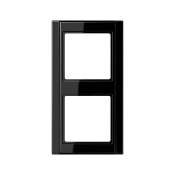 JUNG A500 afdekraam kunststof, zwart, (bxhxd) 81x162x10mm