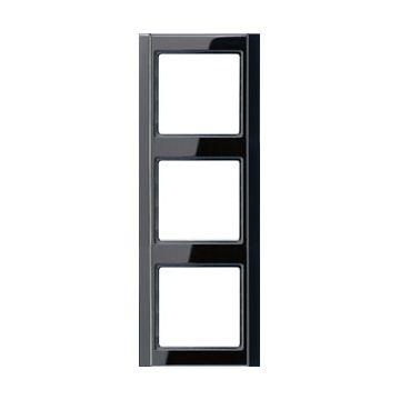 JUNG A500 afdekraam kunststof, zwart, (bxhxd) 81x223x10mm
