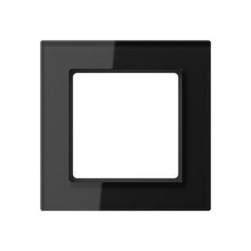 JUNG A Creation afdekraam, glas, zwart, (bxhxd) 84x84x10.4mm