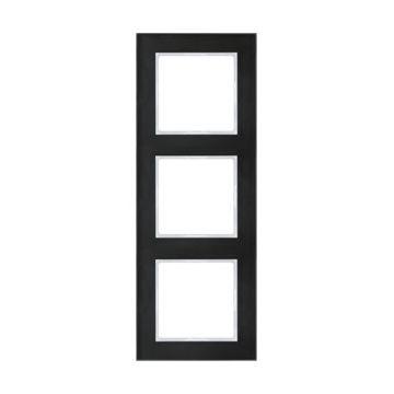 JUNG A Creation afdekraam, glas, zwart, (bxhxd) 84x226x10.4mm