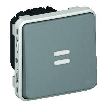 Legrand BTicino Plexo traph schakelaar 55, grijs, inbouw, 230V, spanningstype AC
