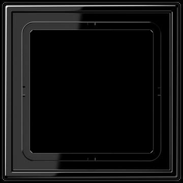 JUNG LS990 afdekraam kunststof, zwart, (bxhxd) 81x81x11mm