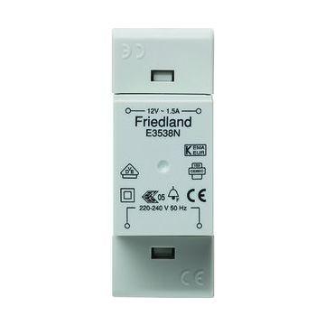 Friedland beltransformator, 93x34x60mm, prim 230V, sec 1 12V