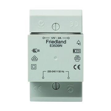 Friedland beltransformator, 92x54x69mm, prim 230V, sec 1 12V