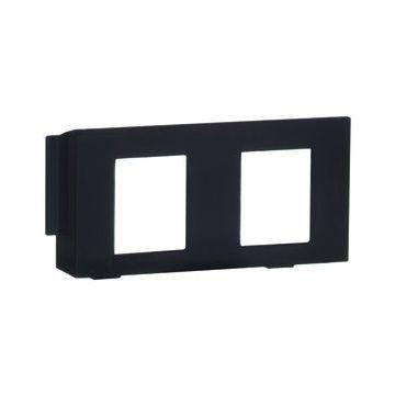 PEHA DIALOG outlet-component kunststof, zwart, centraalplaat, modular-Jack