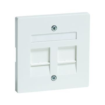 PEHA DIALOG outlet-component kunststof, crèmewit, centraalplaat