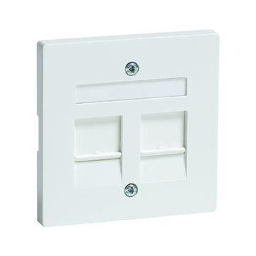 PEHA DIALOG outlet-component kunststof, zuiver, wit, centraalplaat