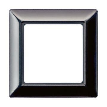 JUNG AS500 afdekraam kunststof, zwart, (bxhxd) 80.5x80.5x10.22mm