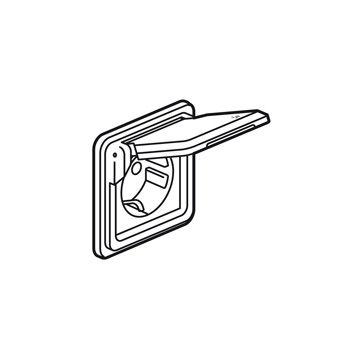 Legrand wandcontactdoos Soliroc Vandaalbestendig, metaal, zilver, uitvoering ra