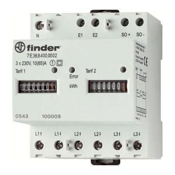 Finder elektriciteitsmeter directe meting, meter el, nom. str (In) 10A