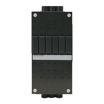 ABB installatiekast leeg Hafonorm HLD, zwart, (hxbxd) 220x110x75mm, DIN-rail