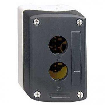 Schneider Electric Harmony XALD drukknopkast leeg, 134x68x51mm, 3 commandoposities, grijs