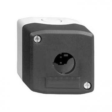 Schneider Electric Harmony XALD drukknopkast leeg, 68x68x51mm, 1 commandoposities, grijs