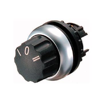 Eaton keuzeschakelaar frontelement RMQ-Titan, 3 standen, uitvoering bedieningselement drukknop