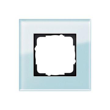 Gira Esprit enkelvoudig kunststof afdekraam glas mint