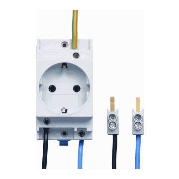 Eaton wandcontactdoos mod randaarde 55 FLEX, wit, inbouw, br in module-eenheden 2.5