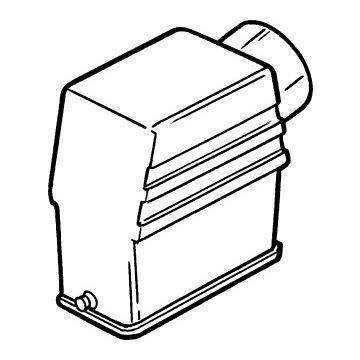 Harting behuizing industriële connector HAN A, 62.7x67.2x36mm, rechthoek