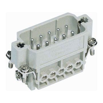 Harting contactblok industriële connector HAN A, contactuitvoering pen