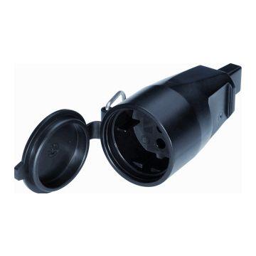 Kaiser Martin koppelcontactstop 1-voudig 553, kunststof, zwart, PVC, (IP) IP44